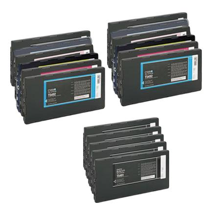 T5491/T5491-98 2 Full Set + 3 EXTRA Black Remanufactured Inks