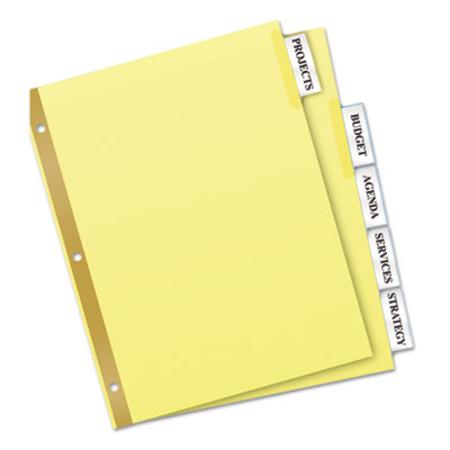 Avery Worksaver Big Tab Reinforced Dividers With Clear Tabs  Five-Tab  Letter  Buff