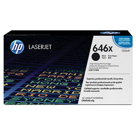 HP 646X Black Original High Capacity Toner Cartridge (CE264X)