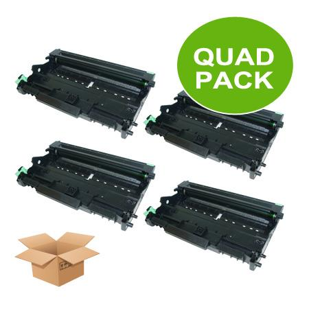 Clickinks DR350 Black Remanufactured Toners Quad Pack
