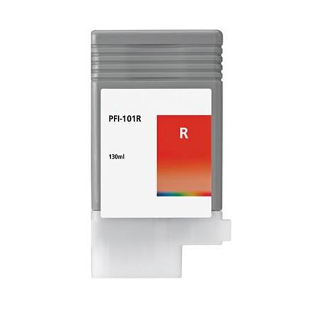 Compatible Red Canon PFI-101R Ink Cartridge (Replaces Canon 0889B001AA)
