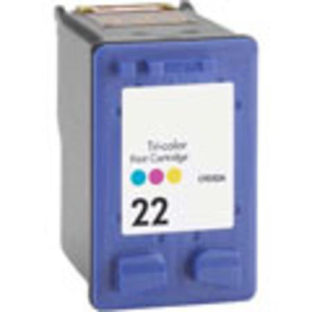 HP 22 TriColor Remanufactured Printer Ink Cartridge (C9352AN)