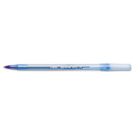 Round Stic Ballpoint Stick Pen  Blue Ink  Medium  Dozen