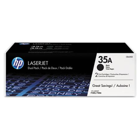 HP 35A (CB435AD) Original Black Laser Toner Cartridge (Twin Pack)