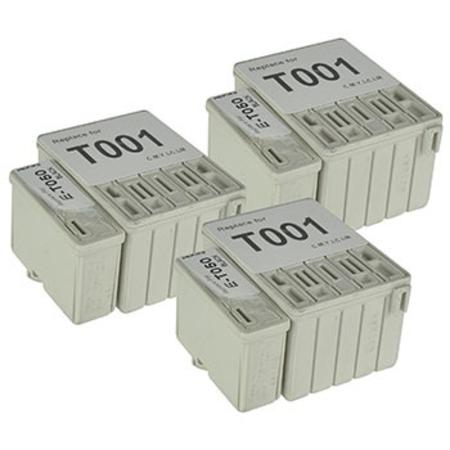 T050/T001 3 Full Sets Remanufactured Inks