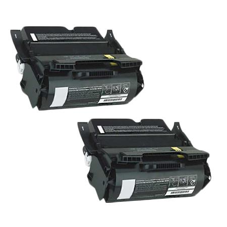 Compatible Twin Pack Black Lexmark 1382925 Toner Cartridges