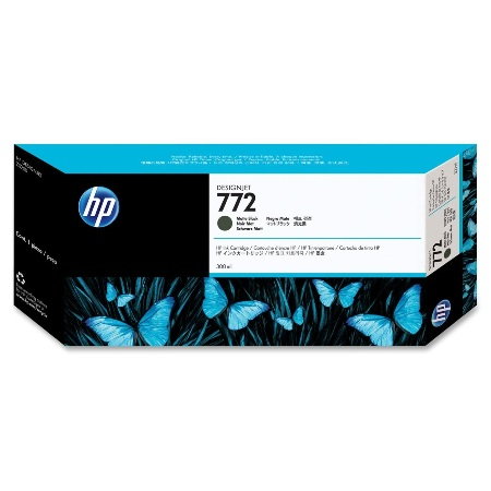 HP 772 Matte Black Original Ink Cartridge (CN635A)