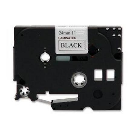 Compatible Black Brother TZe-251 P-Touch Label Tape - 1 in x 26 ft (25mm x 8m) Black on White