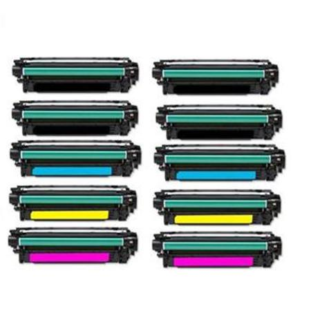 Clickinks CE400A/03A 2 Full Sets + 2 EXTRA Black Remanufactured Toner Cartridge