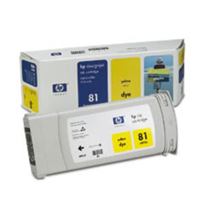 HP 81 Original Yellow Dye Ink Cartridge (C4933A)