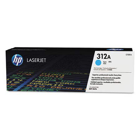 HP 312A Cyan Original Toner Cartridge (CF381A)