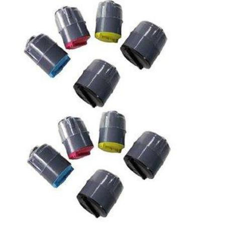 CLP-300 2 Full Sets + 2 EXTRA Black Remanufactured Toner Cartridges