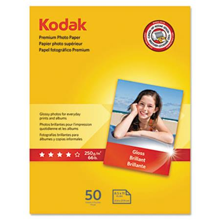Premium Photo Paper  64 lbs.  Glossy  8-1/2 x 11  50 Sheets/Pack