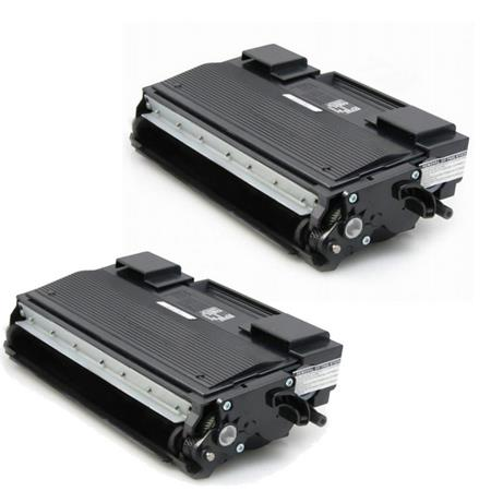 Compatible Twin Pack Brother TN670 Black Toner Cartridge