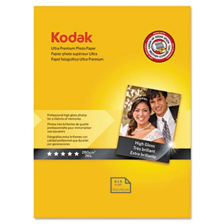Kodak Ultra Premium Photo Paper  76 lbs.  High-Gloss  4 x 6  20 Sheets/Pack
