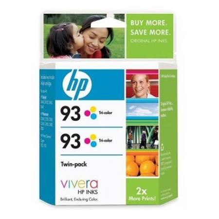 HP 93 (CC581FN) Original Tri-Color Ink Cartridge (Twin Pack)