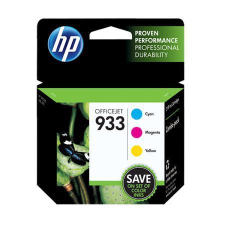 HP 933 Combo-pack Cyan/Magenta/Yellow Officejet Ink Cartridges (CR313FN)