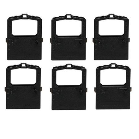 Compatible Black Oki 52102001 Thermal Ribbon - Pack of 6
