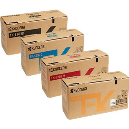 Kyocera TK-5282K/C/M/Y Full Set Original Toner Cartridges