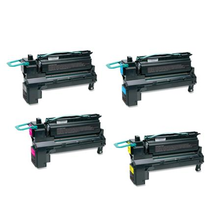 Compatible Multipack Lexmark C792X1KG/CG/MG/YG Full Set Toner Cartridges