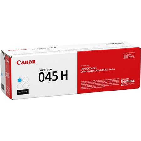 Canon 045H (1245C001) Cyan Original High Capacity Toner Cartridge