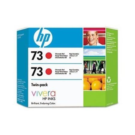 HP 73 Chromatic Red Original Ink Cartridge Twin Pack