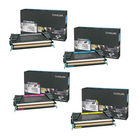 Lexmark C734A2K/C/M/YG Full Set Original Toner Cartridges