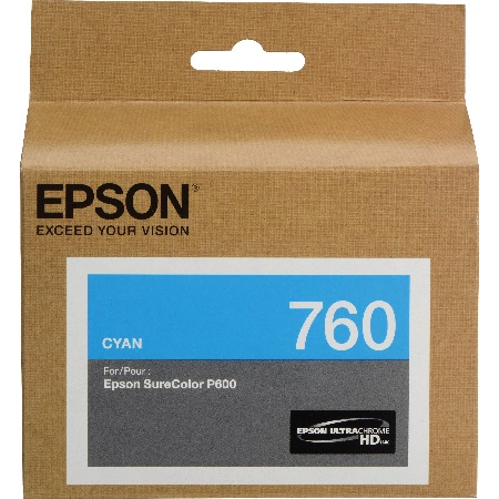 Epson T7602 (T760220) Cyan Original Ink Cartridge