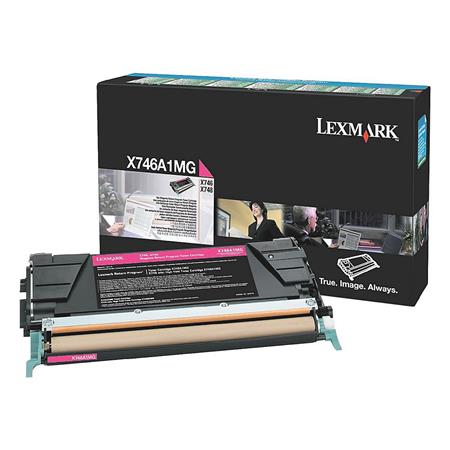 Lexmark X746A1MG Magenta Original Standard Capacity Return Program Toner Cartridge