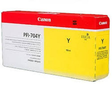 Canon PFI-704Y Original Yellow Ink Cartridge