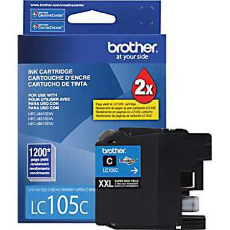 Brother LC105C Cyan Original Extra High Capacity Ink Cartridge