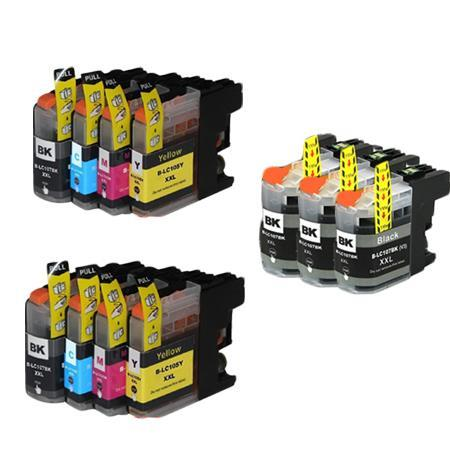 Compatible Multipack Brother LC107BK/LC105C/M/Y 2 Full Sets + 3 EXTRA Black Ink Cartridges