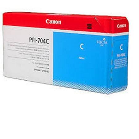 Canon PFI-704C Original Cyan Ink Cartridge