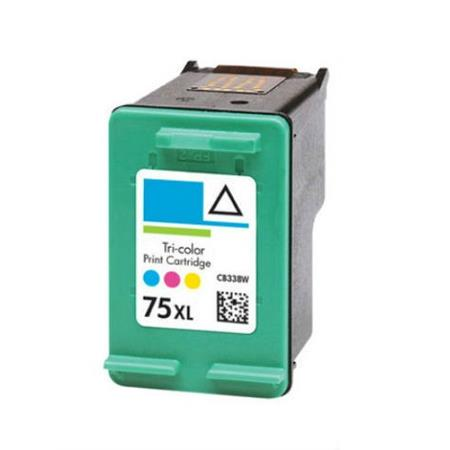 HP 75XL Tri-Color Remanufactured Ink Cartridge (CB338WN)