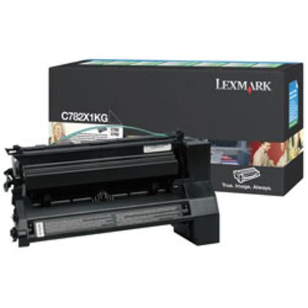 Lexmark C782X1KG Original Black Extra-High Yield Return Program Toner Cartridge