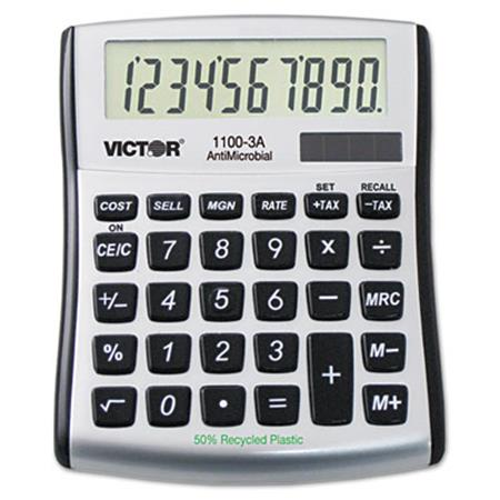 Victor 1100-3A AntiMicrobial Mini Desktop Calculator