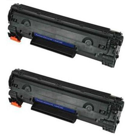 CE285A Black Remanufactured Toner Cartridges Twin Pack