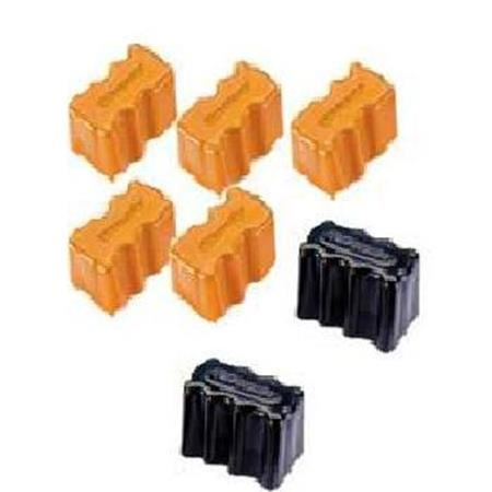 Compatible 5 Yellow/2 Black Xerox 016176100 Toner Cartridge