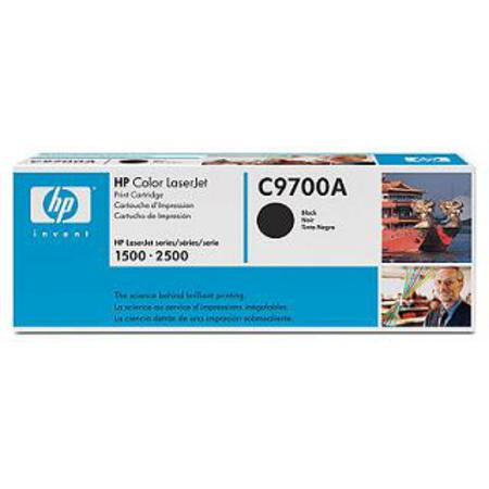 HP Color LaserJet 121A (C9700A) Black Original Print Cartridge with Smart Printing Technology