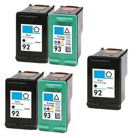 Compatible Multipack HP 92/93 2 Full set + 1 EXTRA Black Ink Cartridges