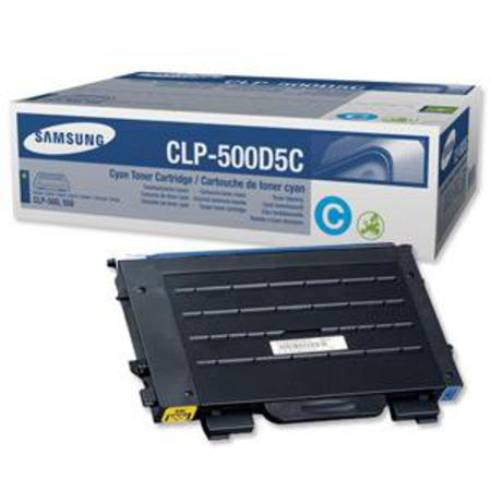 Samsung CLP-500D5C Original Cyan Toner Cartridge