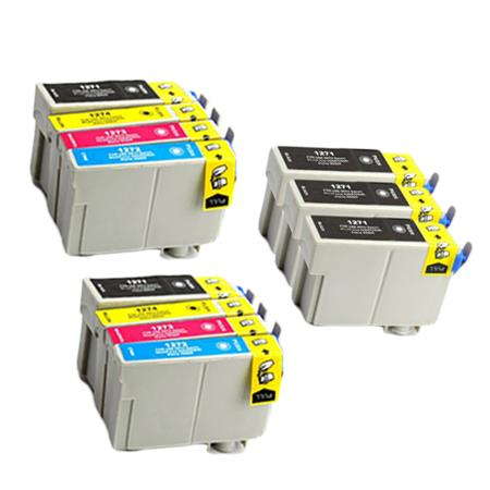 127 2 Full Set + 3 EXTRA Black Remanufactured Inks