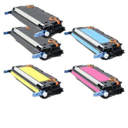 Compatible Multipack HP Q6470A/73A Full Set + 1 EXTRA Black Toner Cartridges
