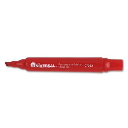 Universal Permanent Markers  Chisel Tip  Red  Dozen