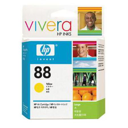 HP 88 Yellow Original Ink Cartridge with Vivera Ink (C9388AN)