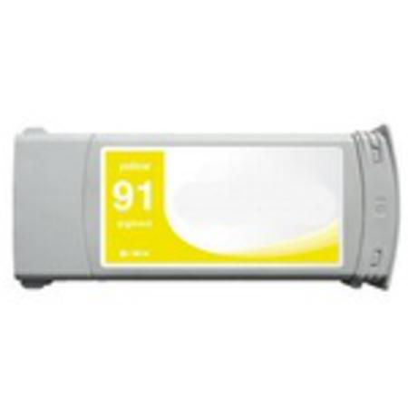 Compatible Yellow HP 91 Pigment Ink Cartridge (Replaces HP C9469A) (775ml)