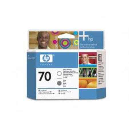 HP 70 Original Gloss Enhancer and Grey Printhead (C9410A)