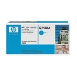 HP Color LaserJet Q7581A Cyan Original Print Cartridge with HP ColorSphere Toner