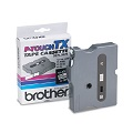 Brother TX2211 Original P-Touch Label Tape - 3/8 x 50 ft (9mm x 15m) Black on White