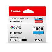 Canon PFI-1000C Cyan Original Ink Cartridge (0547C001)